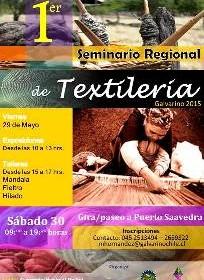 Afiche Seminario de textileria