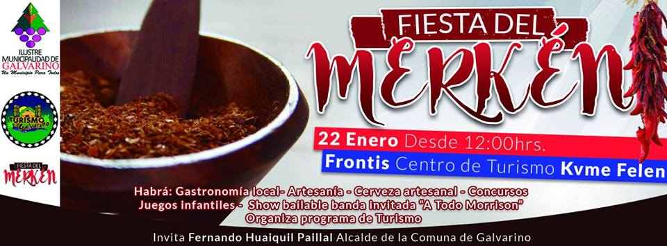 """Una actividad inédita en el contexto regional se vivirá en Galvarino con la realización de la """"Primera Fiesta del Merkén"""", el evento organizado por el […]"""