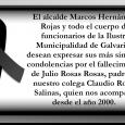 En este momento tan difícil queremos ofrecer nuestro pésame por el sensible fallecimiento del padre de uno de nuestros funcionarios.